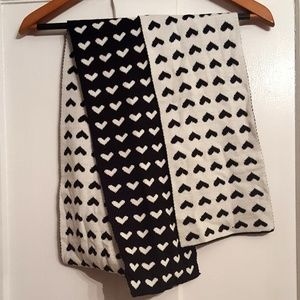 Accessories - Black and White Reversible Scarf